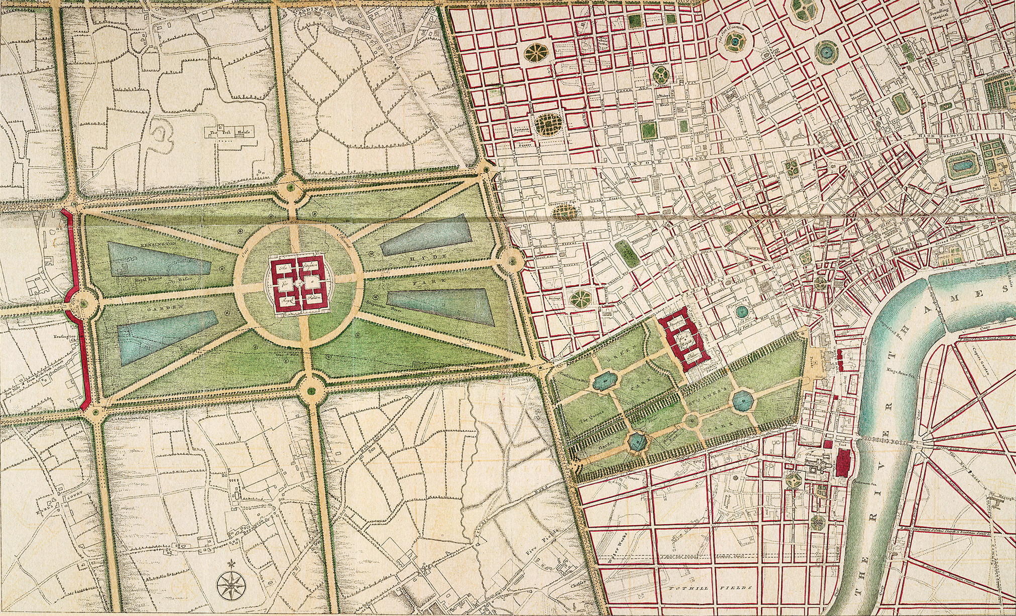 A plan of Hyde Park, 1766