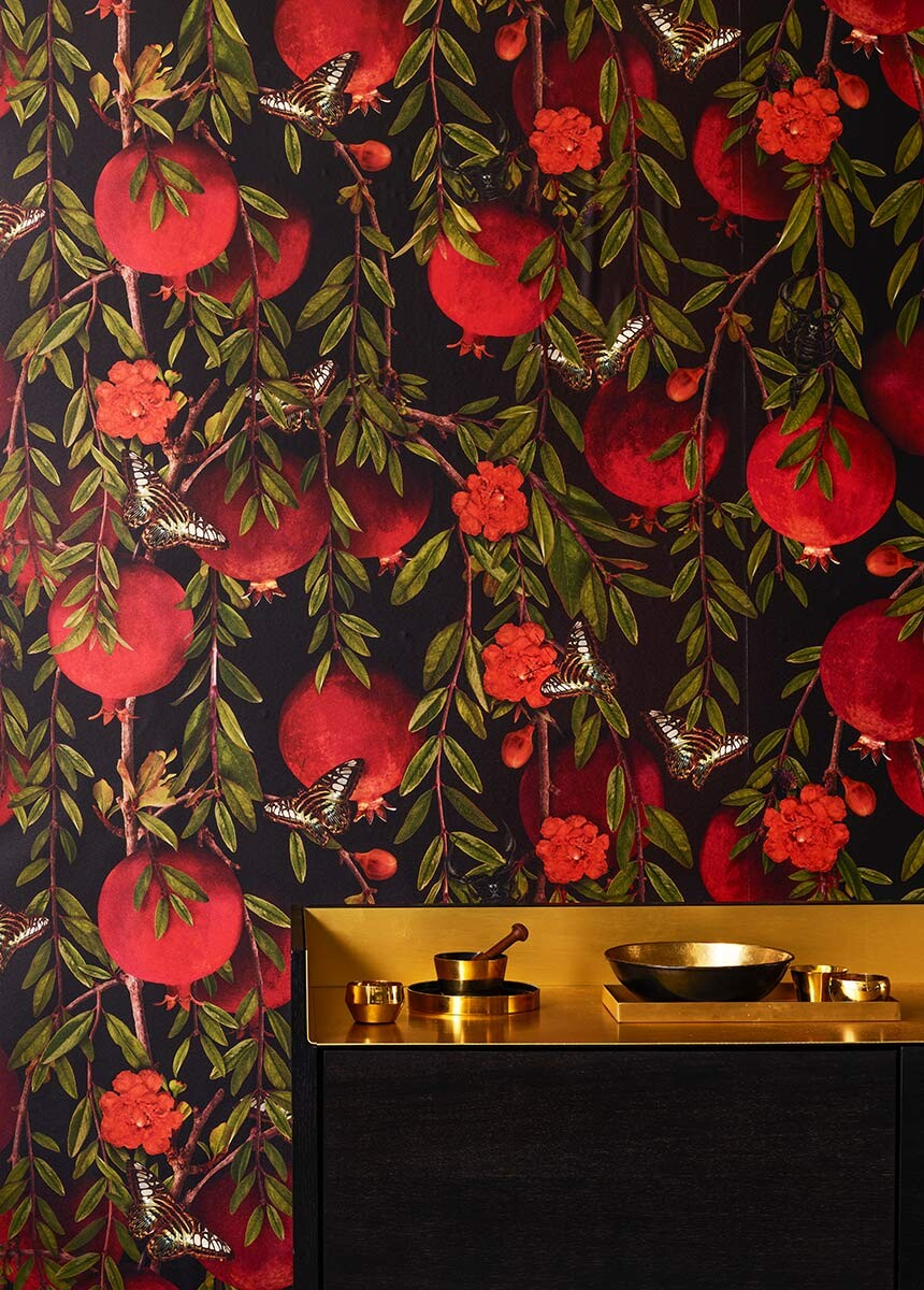 'Pomegranate' Wallpaper Mural