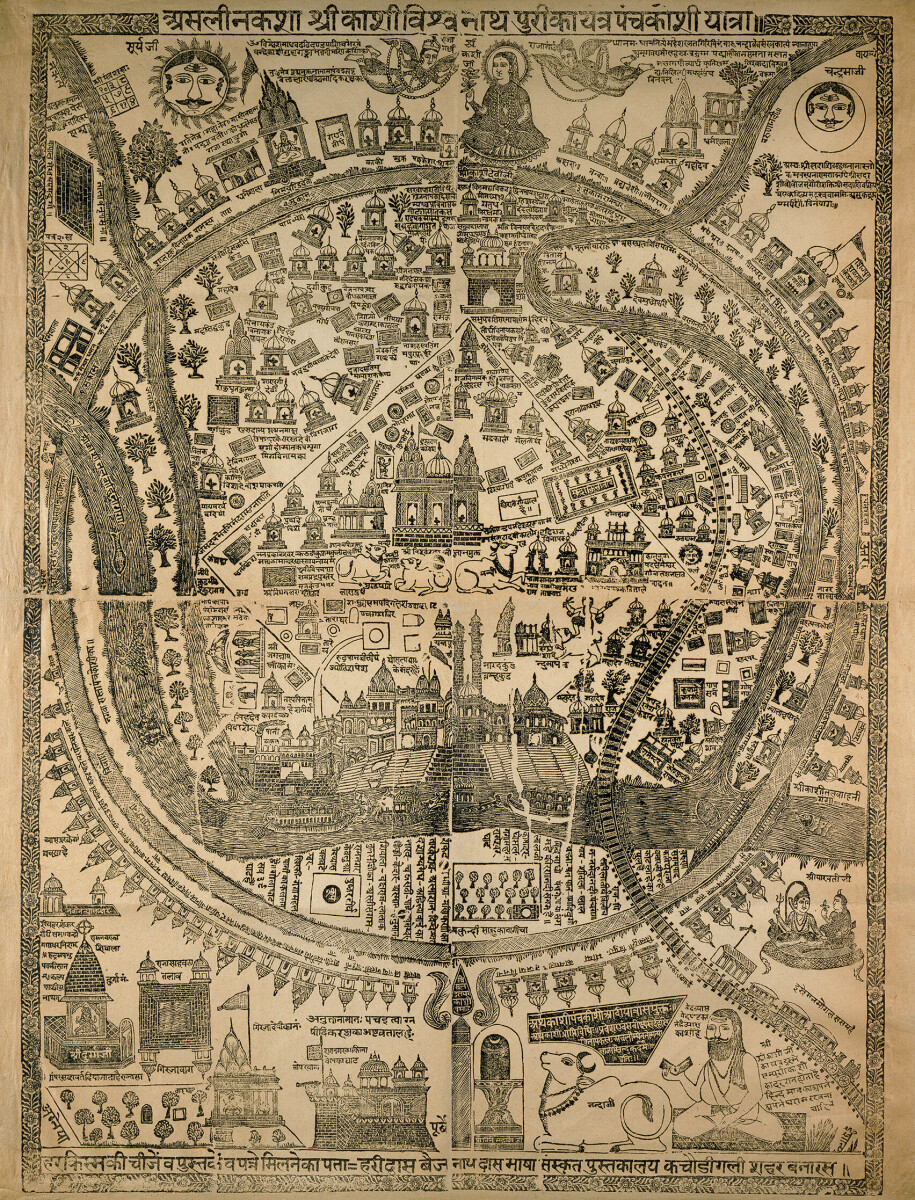 Pilgrim Map of Varanasi (Benares)
