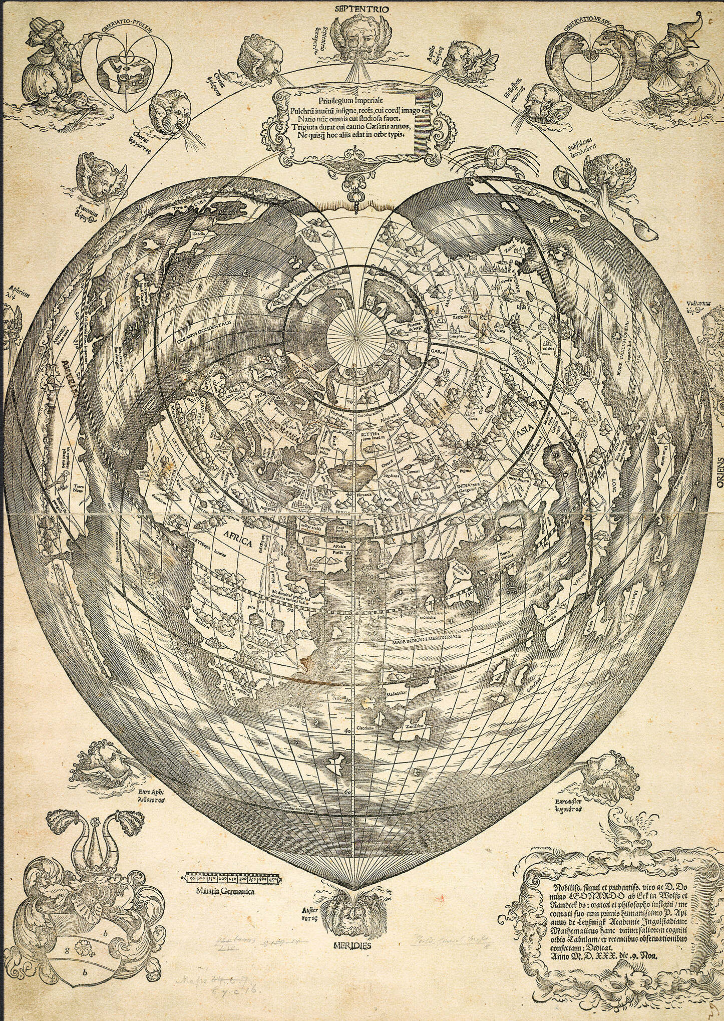 World map, 1530