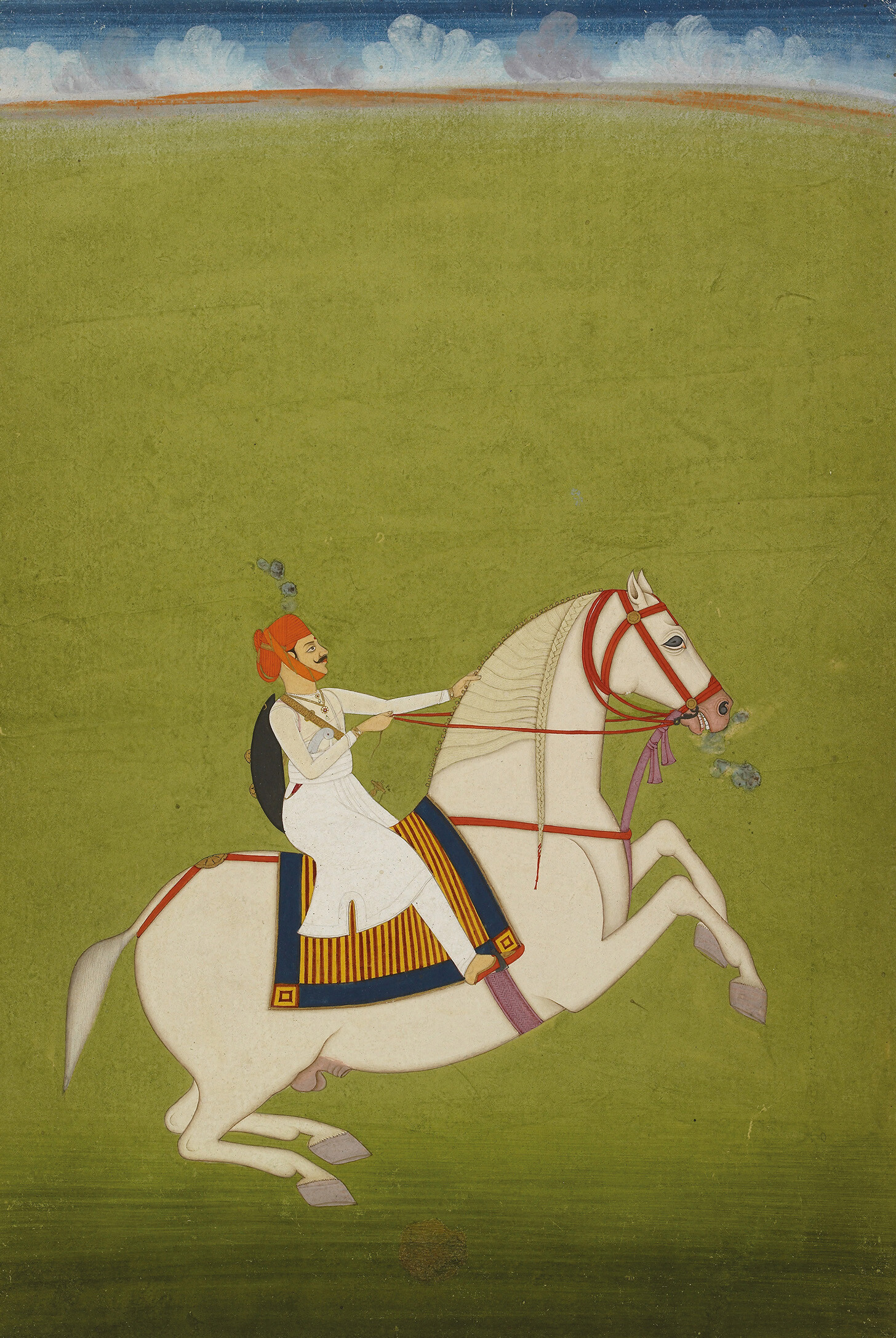 Painting - Mounted Rajput