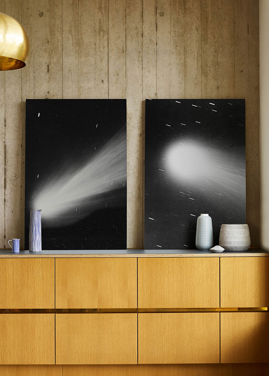 'Halley's Comet' Canvas Wall Art