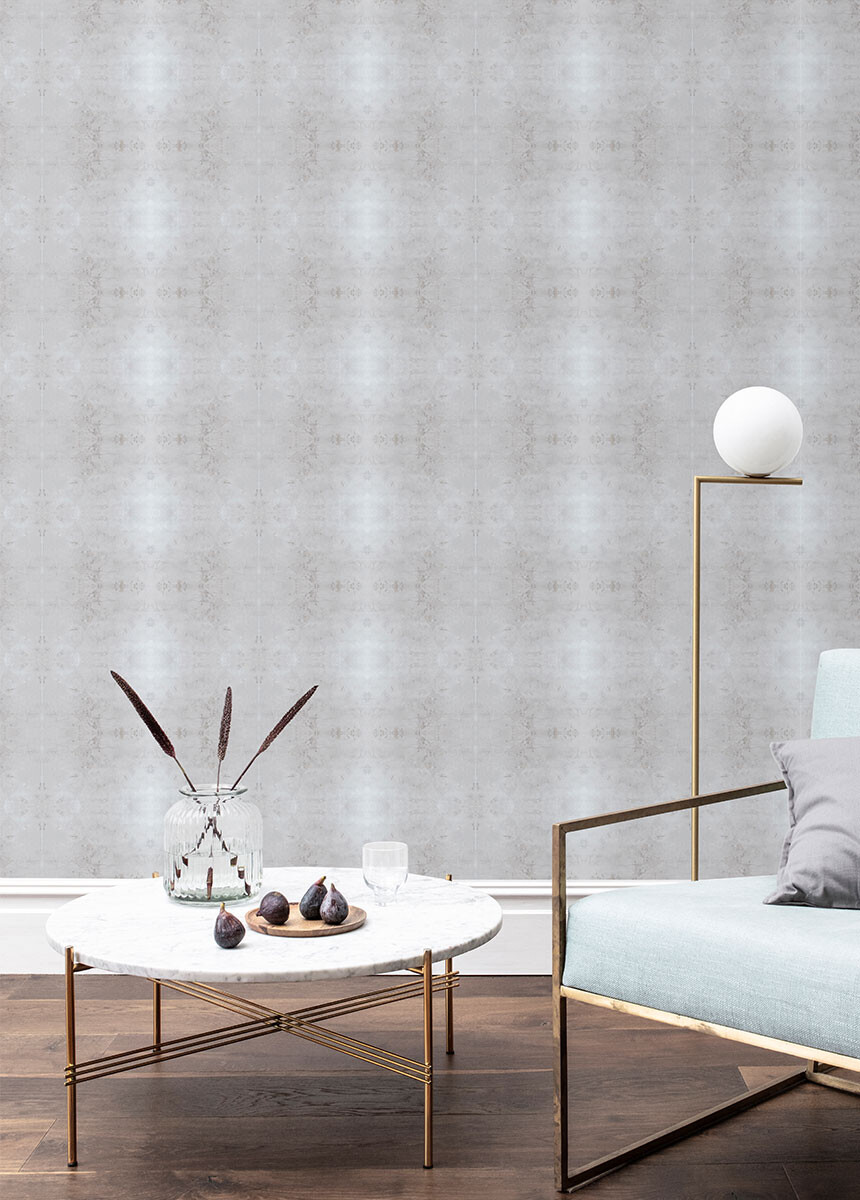 'Glasshouse Check Dove Grey' Wallpaper murals