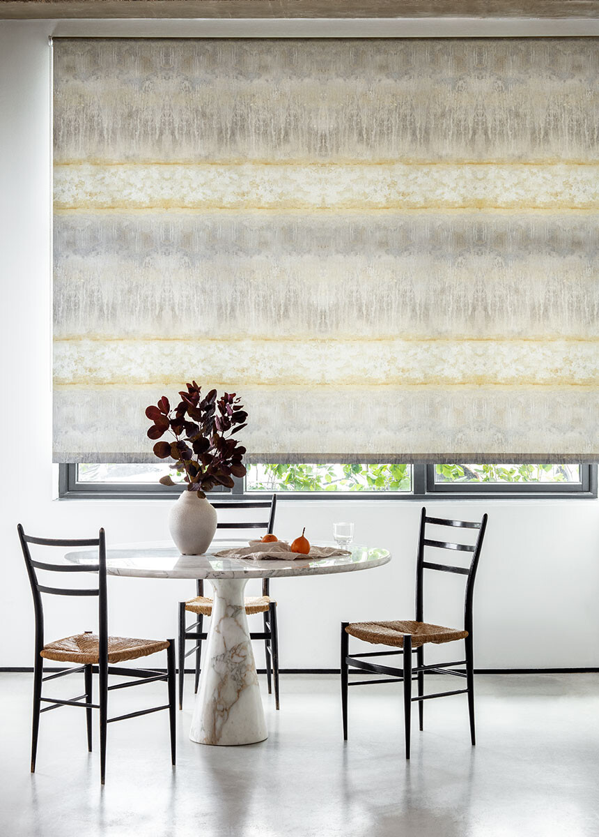 'Servants Quarters Stripe Mineral' Roller blinds