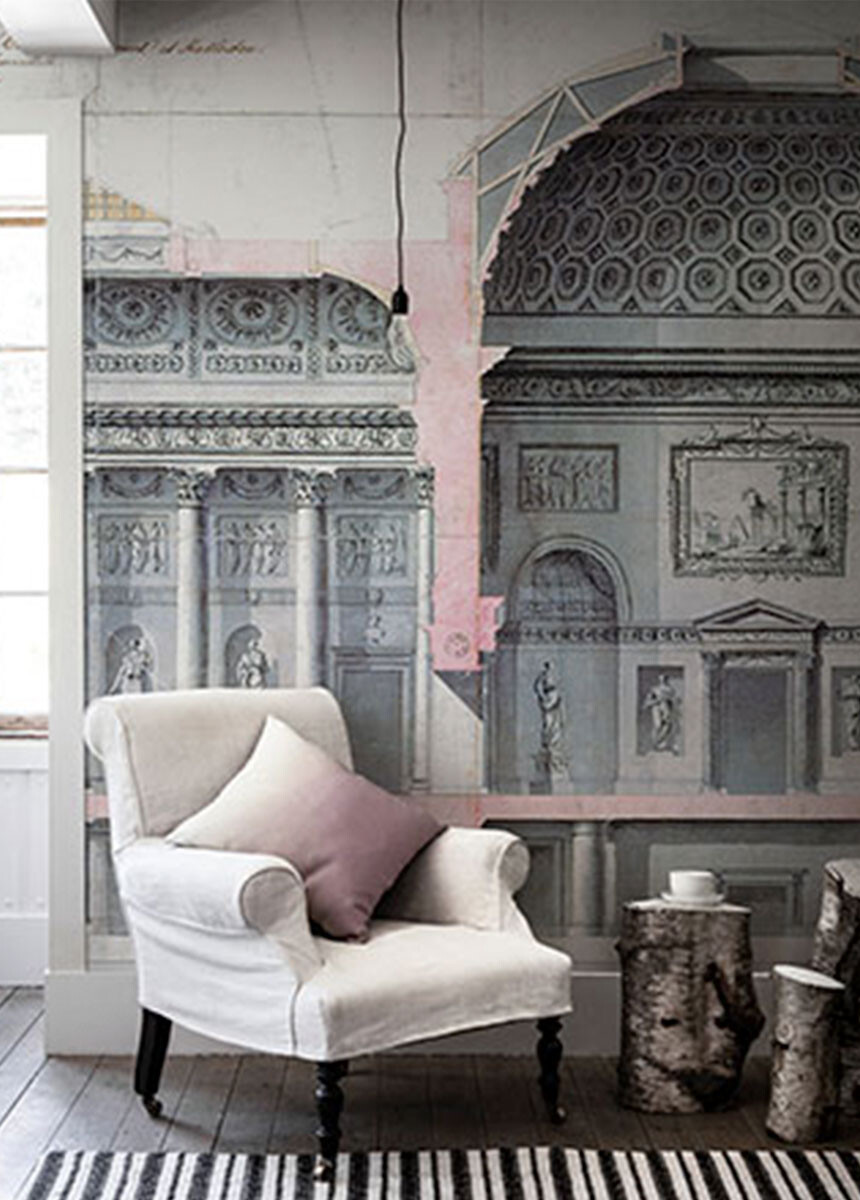 'Kedleston Hall' Wallpaper Mural