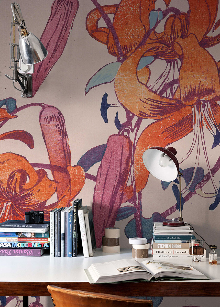 'Tiger Lilies' Wallpaper Mural