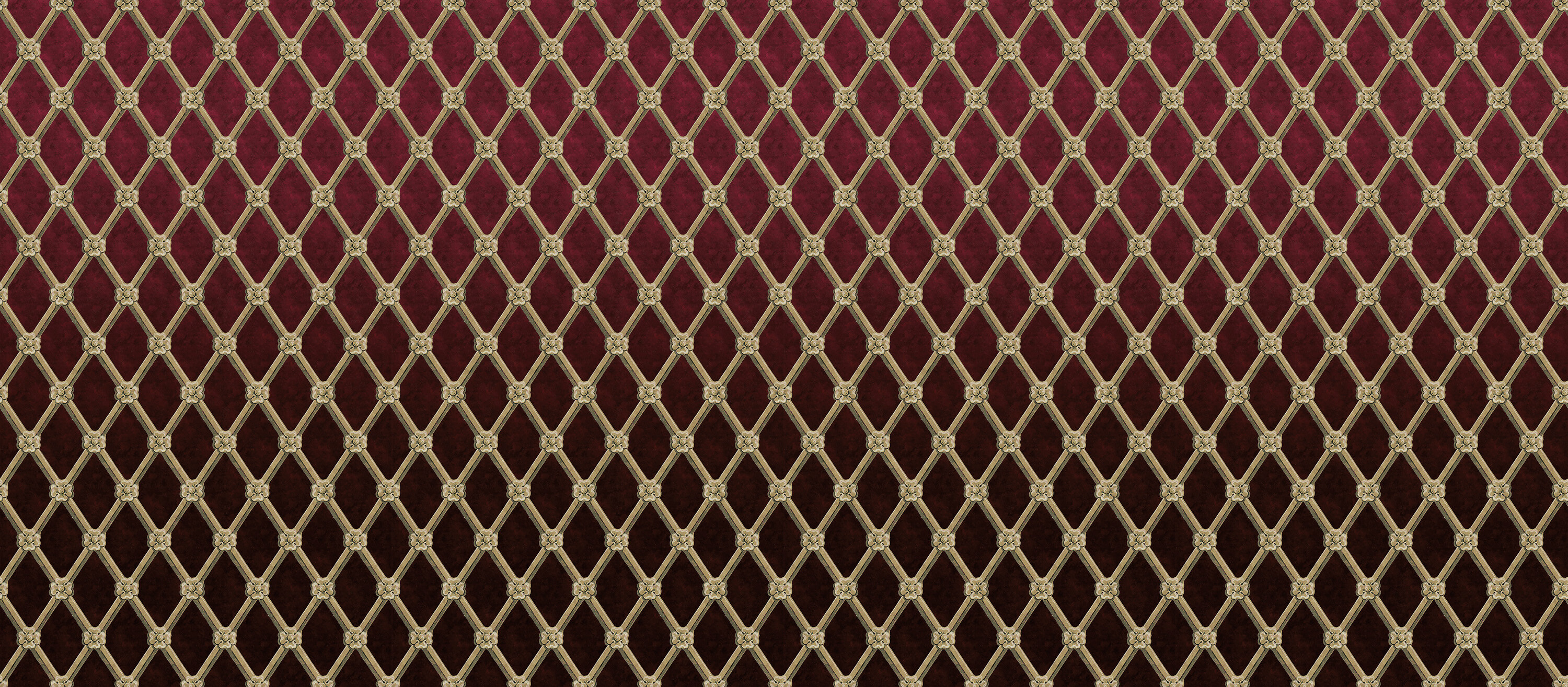 Uppark Trellis Bordeaux Red