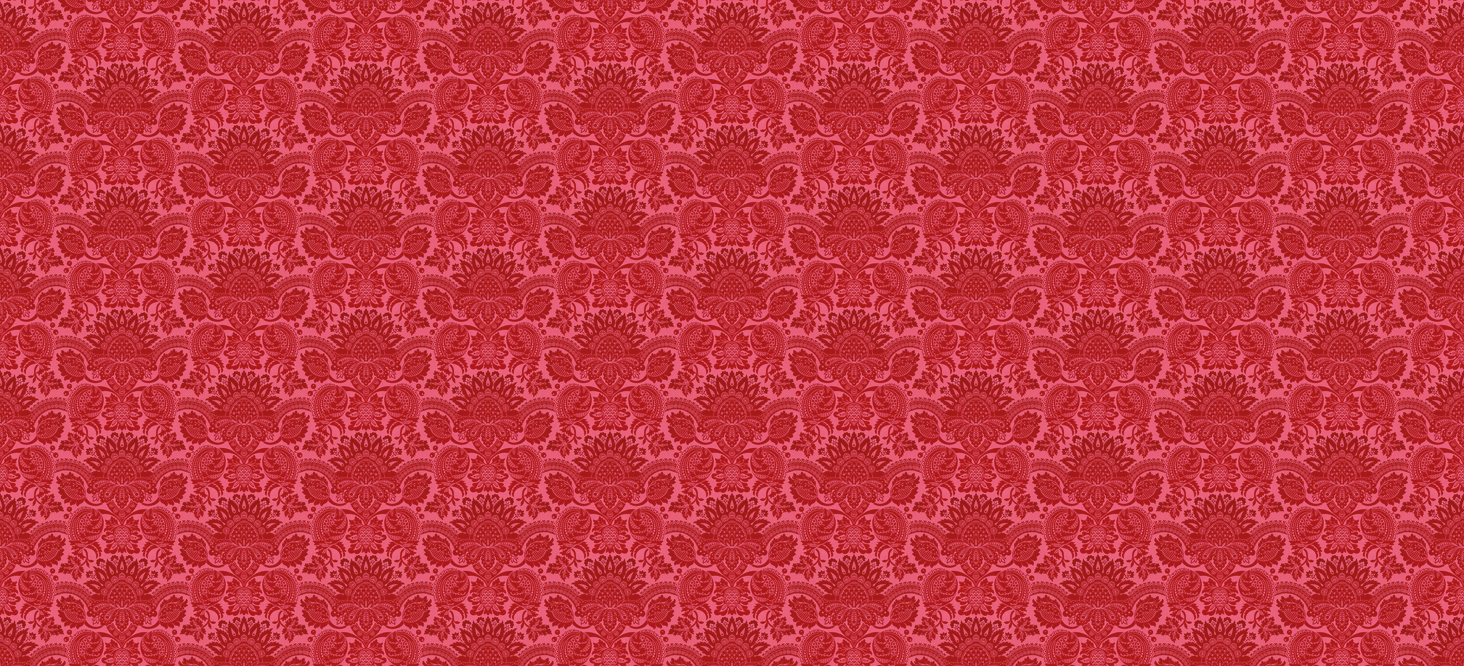 Lydiard Damask Vermillion Red