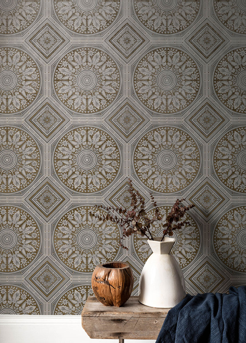 'Paris Plasterwork Taupe' Wallpaper murals
