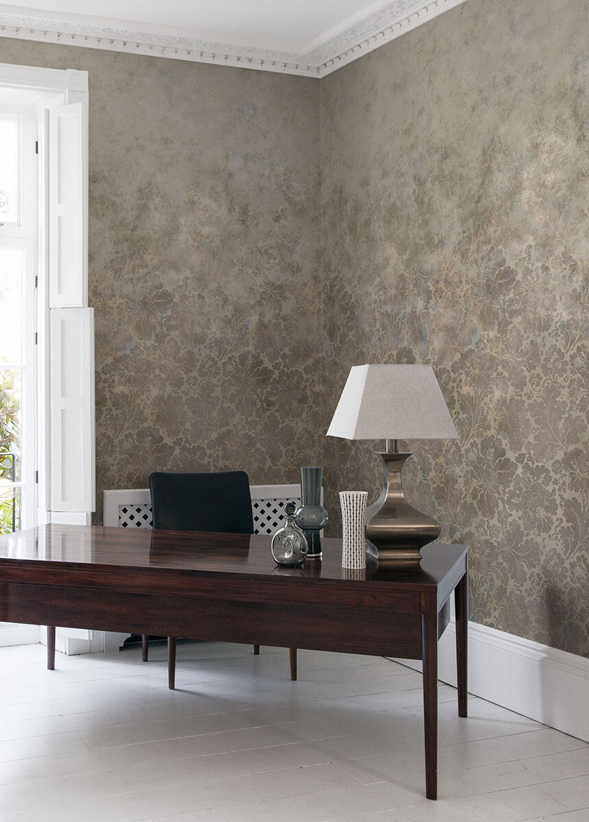 'Cranford Damask Sandstone' Wallpaper murals