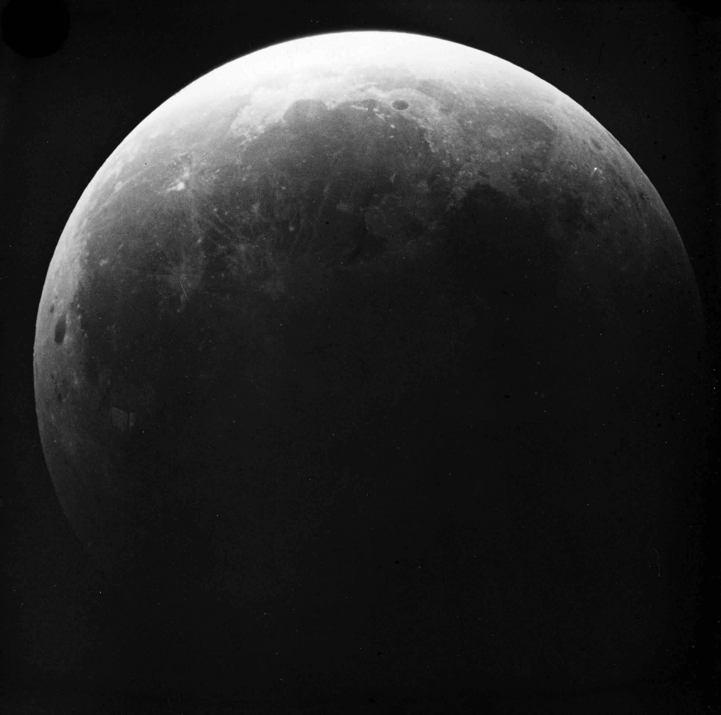 The Moon in near total lunar eclipse II, 1910