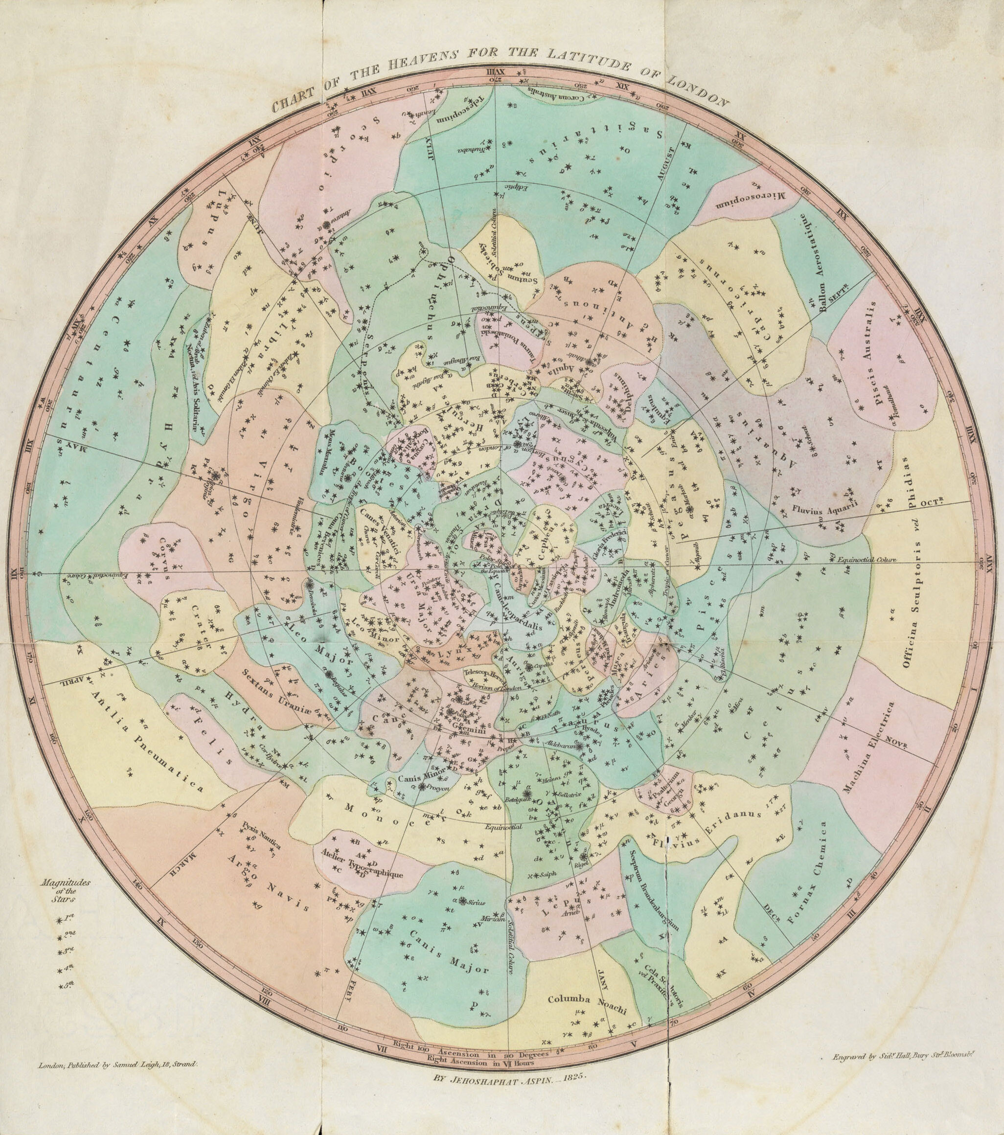 A Chart of the Heavens for the Latitude of London, c.1825