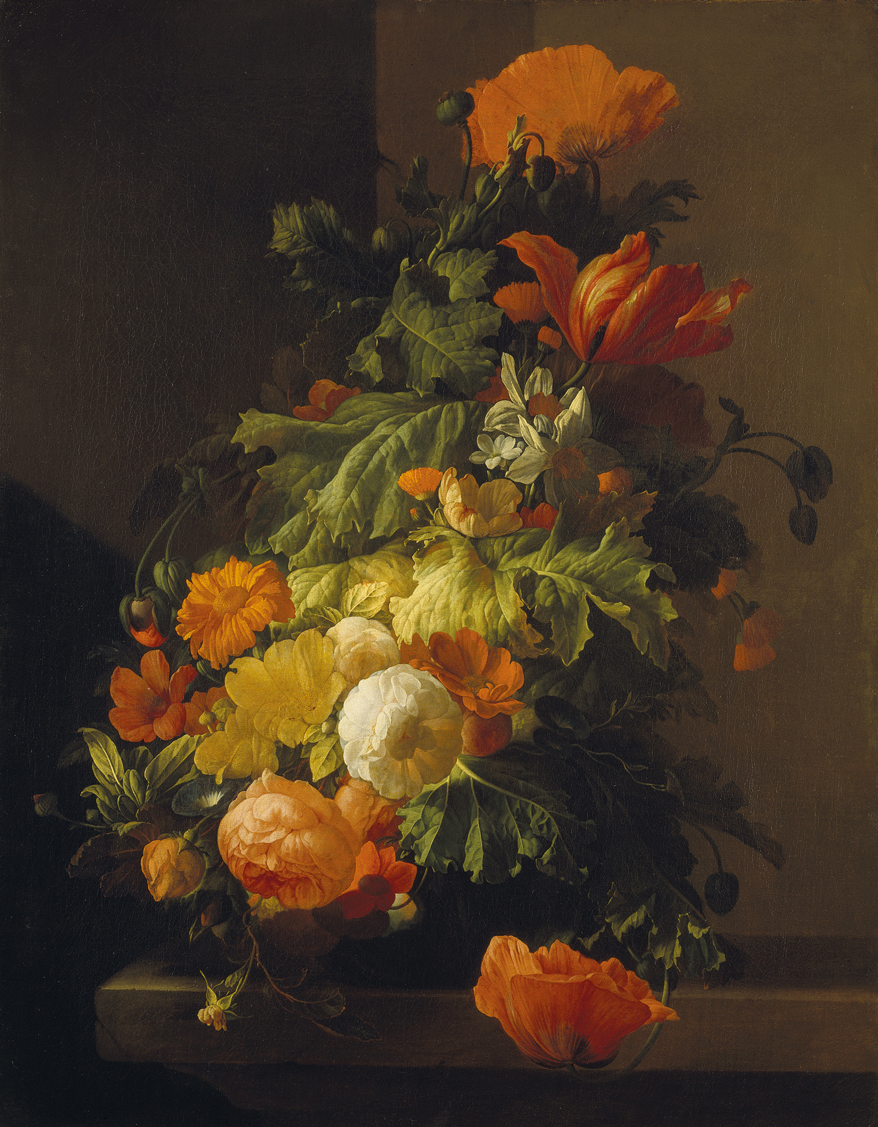 A Vase of Flowers - Poppies and Peonies