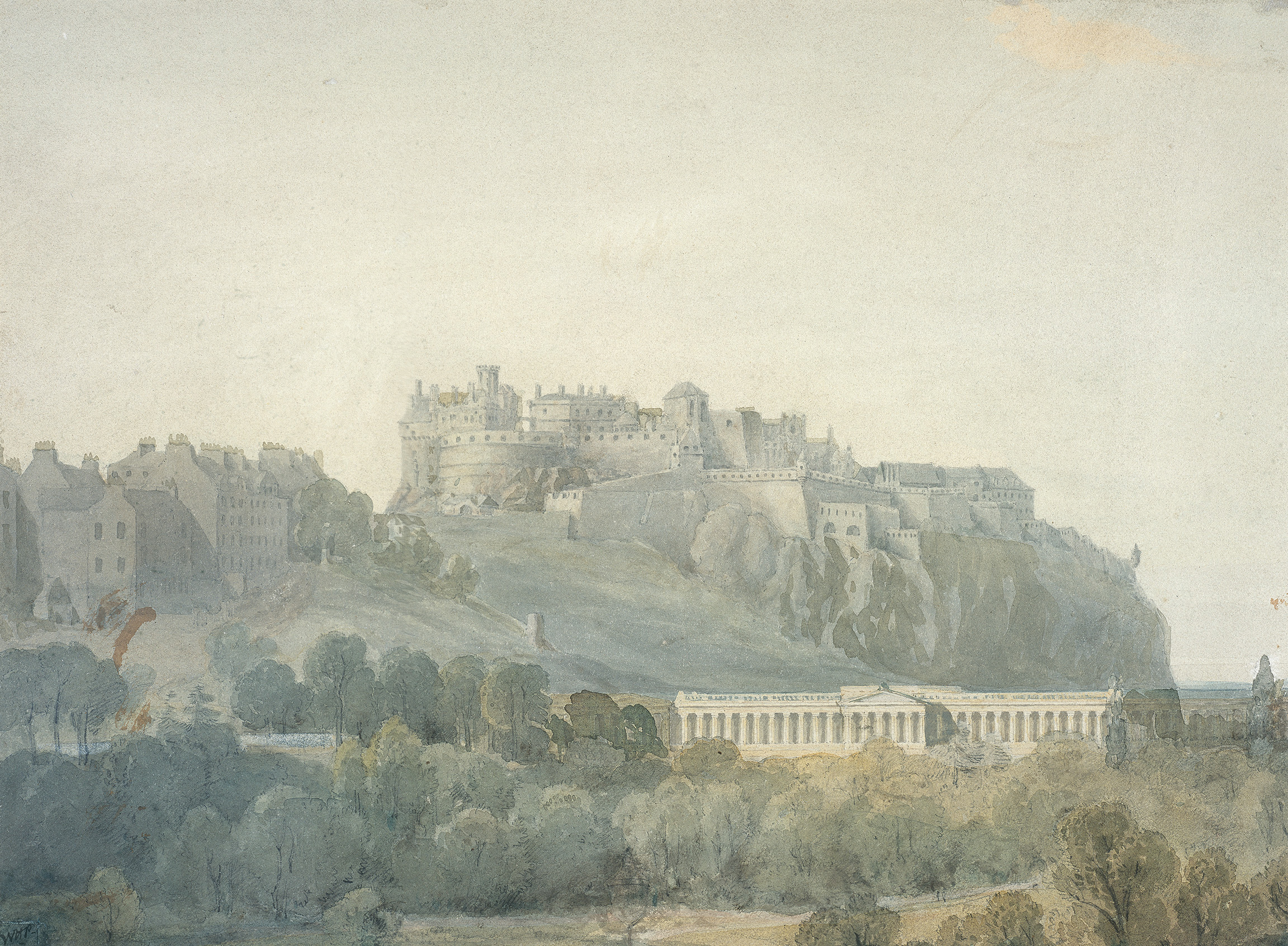 Edinburgh Castle and the Proposed National Gallery of Scotland