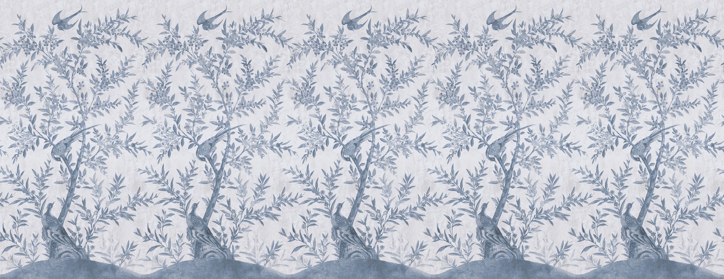 Wotton-Under-Edge Chinoiserie Clay Blue