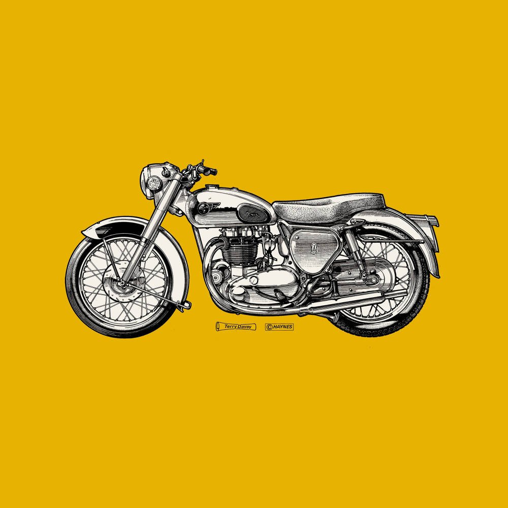 Golden Yellow Motorcycle
