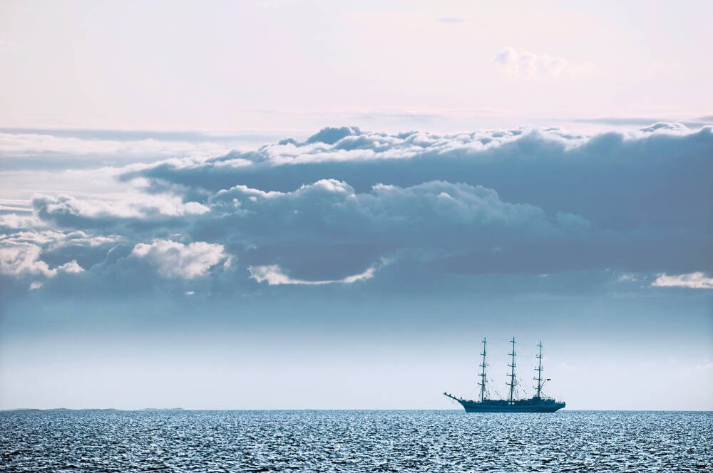Russian full-rigged ship