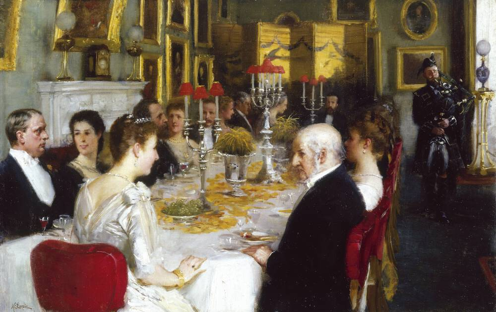Dinner at Haddo House, 1884