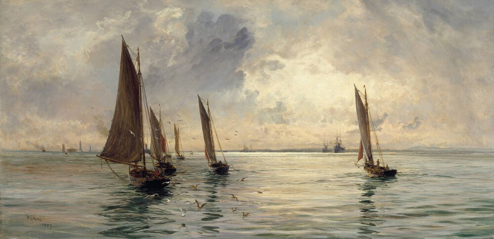 The Portsmouth Fishing Fleet: The Breeze Falls Light