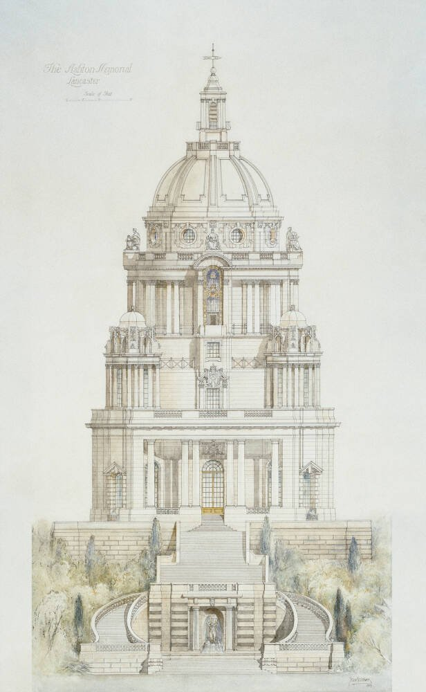 Record Drawing of Ashton Memorial, Lancaster