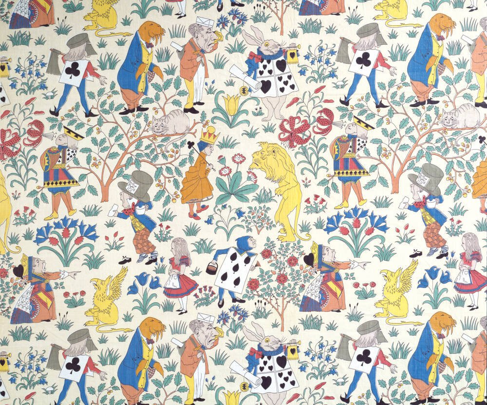 Alice In Wonderland Textile Design Wallpaper Mural Surfaceview