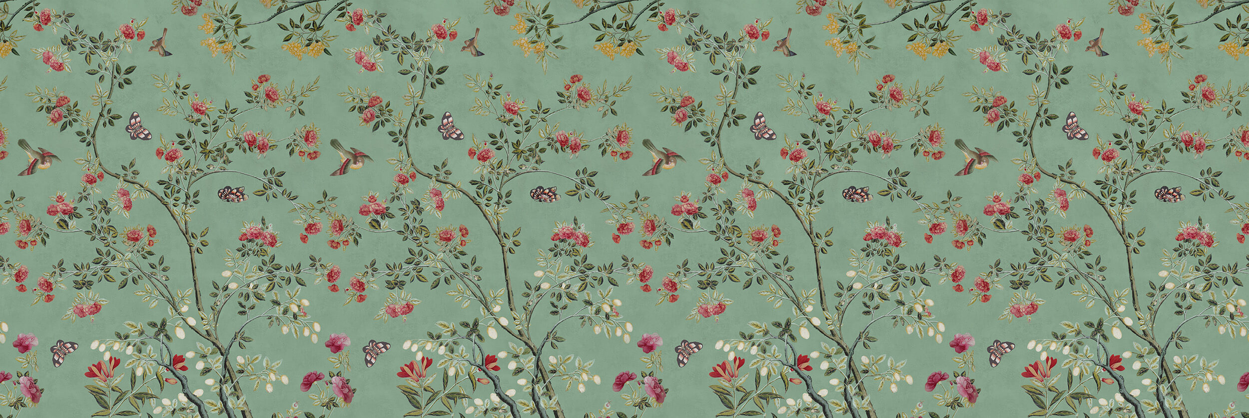 Camellia Chinoiserie Jade Green