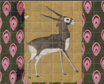 A lady in a Grove, depicting Kamodani Ragini II' Ceramic