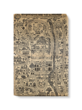 'Pilgrim Map of Mathura' Canvas Wall Art