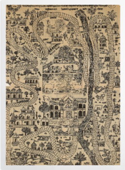 'Pilgrim Map of Mathura' Art Prints
