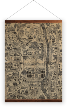 'Pilgrim Map of Mathura' Wall Hanging