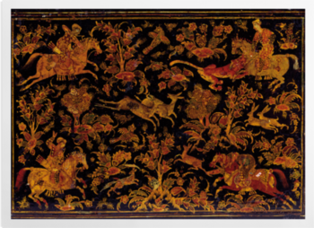 'Writing Cabinet Decorated with Hunting Scenes' Art Prints