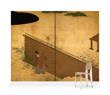 'One of two 6-fold screens - Tales of Ise' Wallpaper Mural