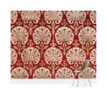 'Ottoman velvet with carnations' Wallpaper Mural