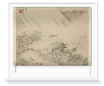 Waterfall In A High Mountain Roller Blind Surfaceview