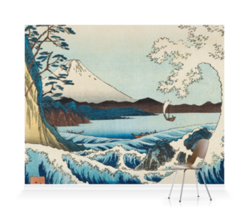 'The Sea at Satta in Suruga' Wallpaper Mural
