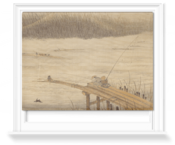 'Fisherman on a Pier' Roller Blind