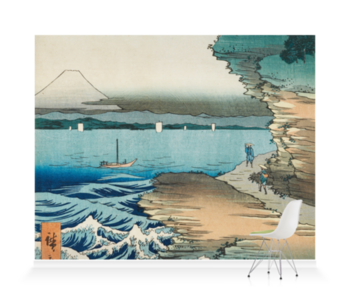 'The Coast at Hota In Awa Province' Wallpaper Mural