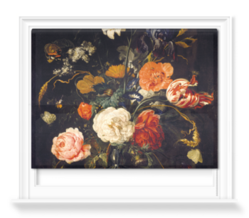 'A Vase of Flowers with Berries and Insects' Roller Blind