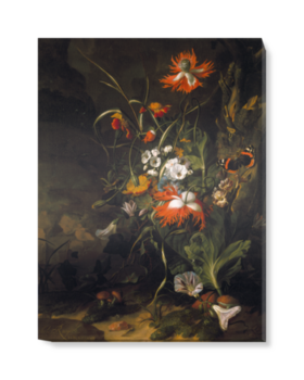 'A 'Forest Floor' Still Life of Flowers' Canvas Wall Art