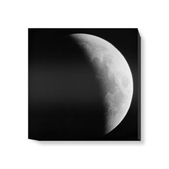 'The Moon in partial lunar eclipse II, 1910' Canvas wall art