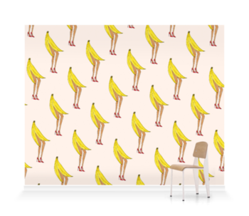 'Banana Legs' Wallpaper Mural