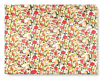 'Field of Painted Flowers' Canvas Wall Art