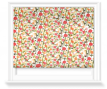 'Field of Painted Flowers' Roller Blind