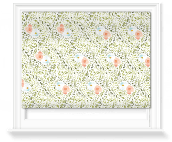 'Watercolour Garden' Roller Blind