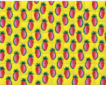'Watermelon Strawberry' Ceramic Tile Mural