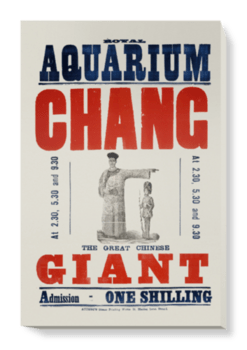 'Chang the great Chinese giant' Canvas Wall Art