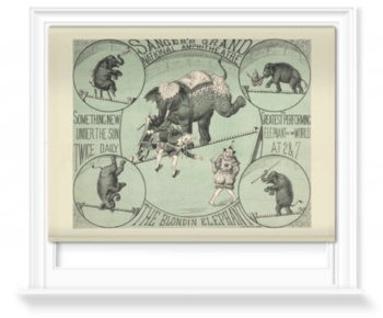 'The Greatest Performing Elephant in the World' Roller Blind