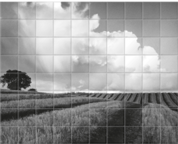 'Large White Cloud near Bilsington' Ceramic Tile Mural