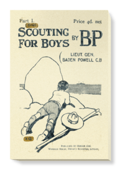 'Scouting for Boys, part 1' Canvas Wall Art
