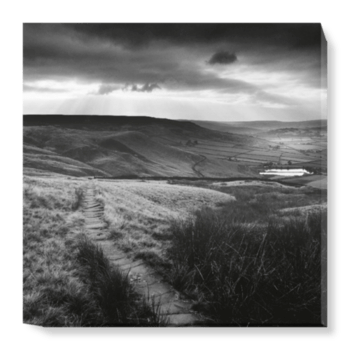 'Path and Reservoir above Lumbutts' Canvas Wall Art